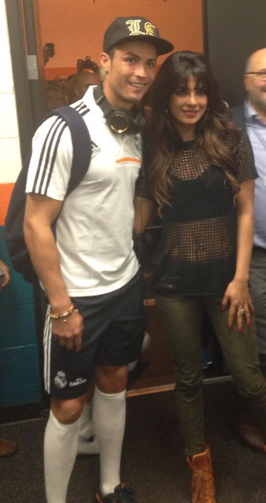Cristiano And Priyanka Posed At International Champions Cup 2013