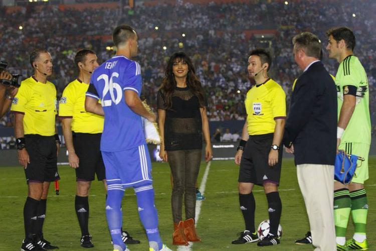 Priyanka Chopra Present At Real Madrid Vs Chelsea Match, International Champions Cup 2013