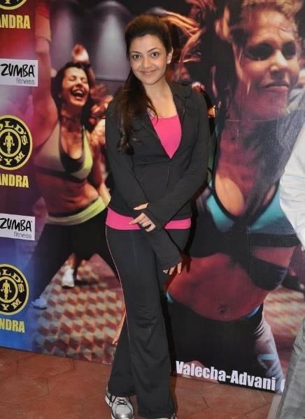 Exclusive Kajal Aggarwal At Zumba Fitness Event Still
