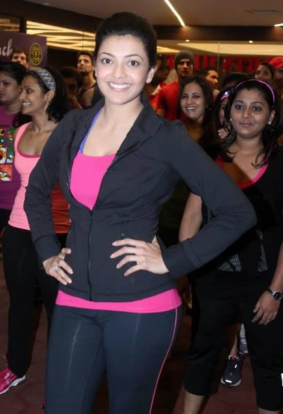 Kajal Aggarwal Beautiful Smile Pic At Zumba Fitness Event In Mumbai
