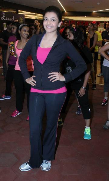 Kajal Aggarwal Stills At Zumba Fitness Event