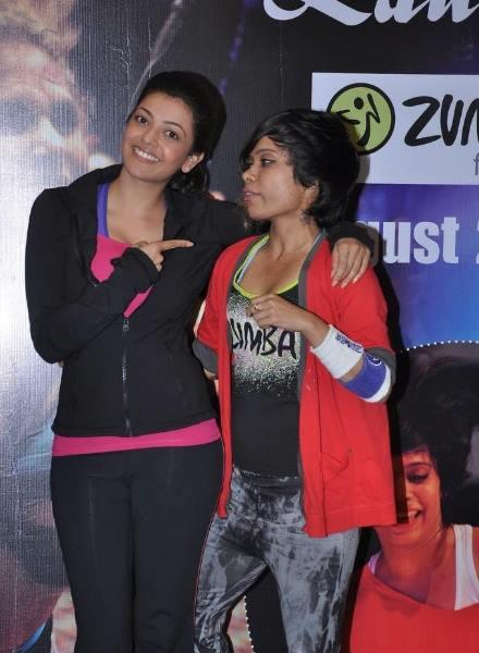 Kajal Aggarwal At Zumba Fitness Event