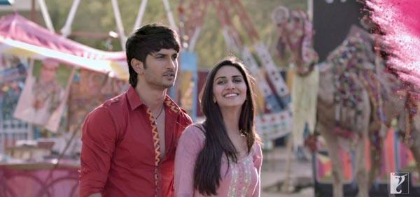 Sushant And Vaani A Still From Shuddh Desi Romance Movie