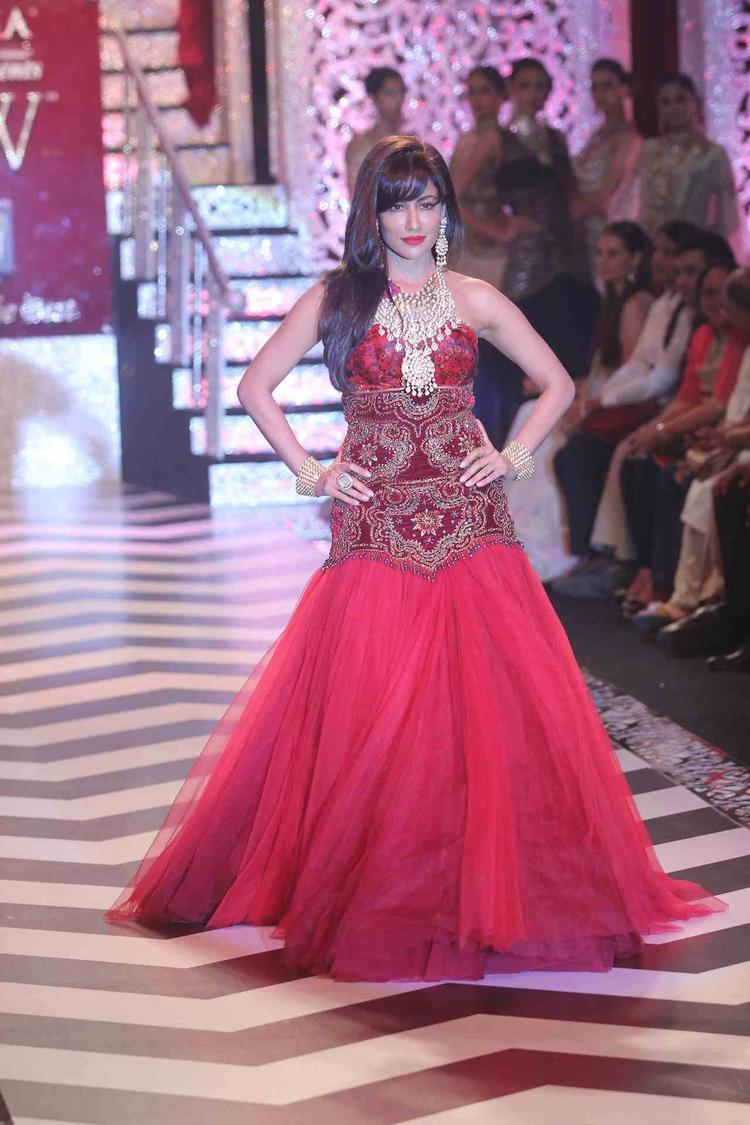 Chitrangada Singh Looks Fan In This Gown At IIJW Grand Finale 2013