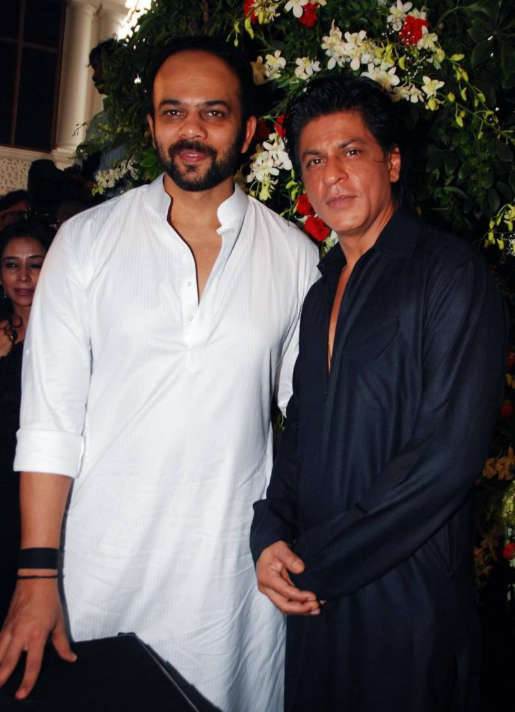 Rohit And SRK Clicked During The Celebration Of Eid At SRK's Bungalow Mannat