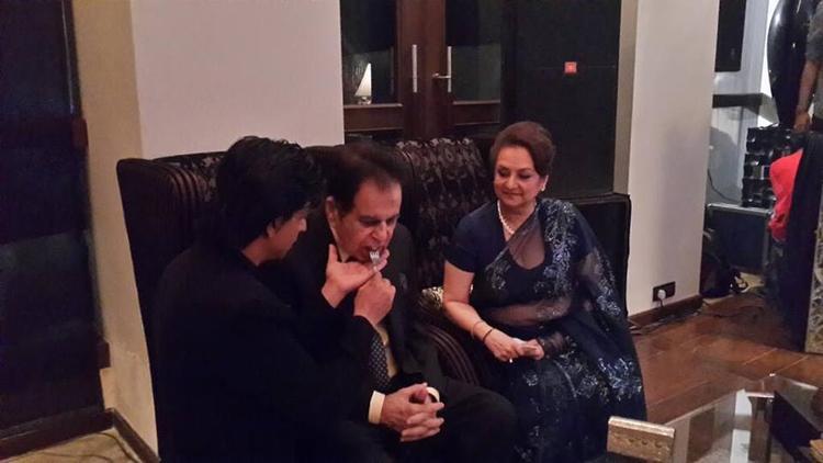 Dilip Kumar With Wife Saira Banu At SRK's Eid Bash