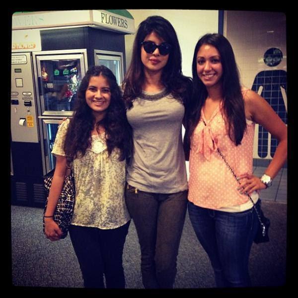 Priyanka Chopra Cool Hot Look With Fans In Lasvegas