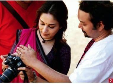 Actress Madhuri Dixit On The Sets Of Gulaab Gang Shooting