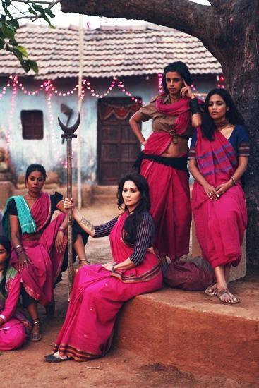 Madhuri Dixit On The Sets Of Her Come Back Film Gulaab Gang