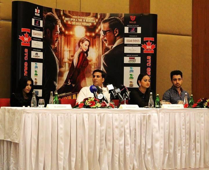 Akshay,Sonakshi And Imran Khan At Oberoi Hotel In Dubai For Press Conference