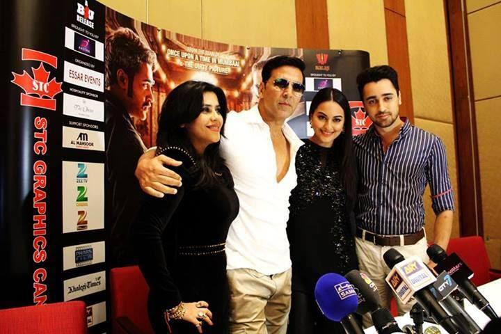 Ekta,Akshay,Sonakshi And Imran Pose For Media At Oberoi Hotel In Dubai