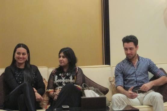 Ekta,Sonakshi And Imran Khan At Dubai Oberoi Hotel For Press Conference Of OUATIMD