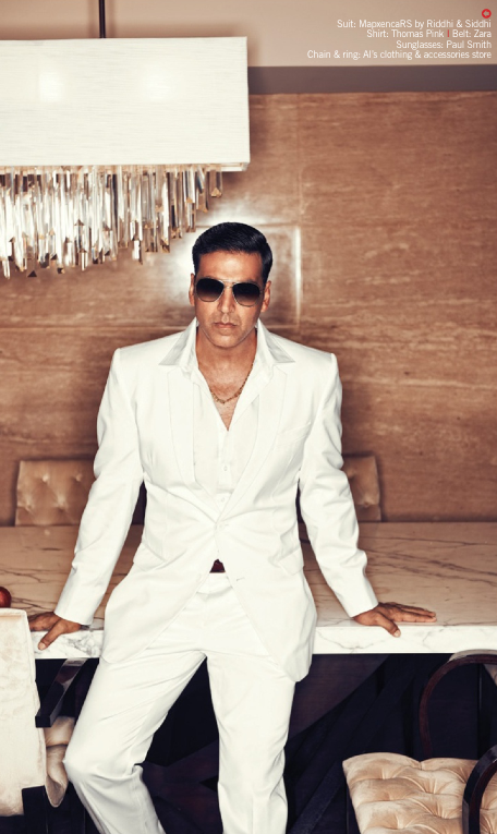 Akshay Looking Very Handsome In This Suit Photoshoot For Filmfare August Issue
