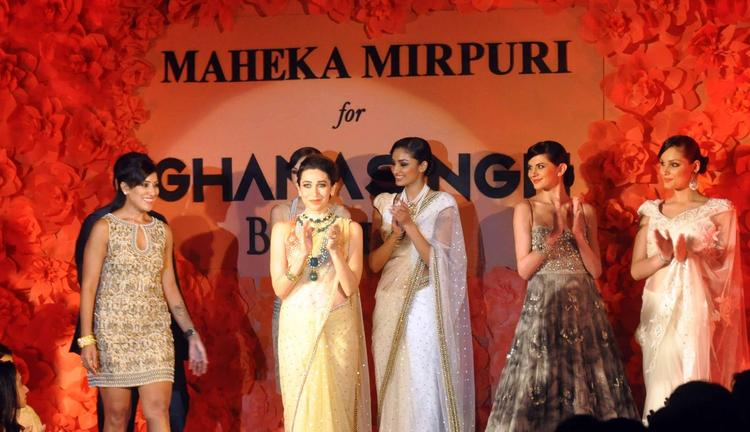 Amazing Karisma Walks For Ghanasingh And Maheka Mirpuri'S Collection Launch