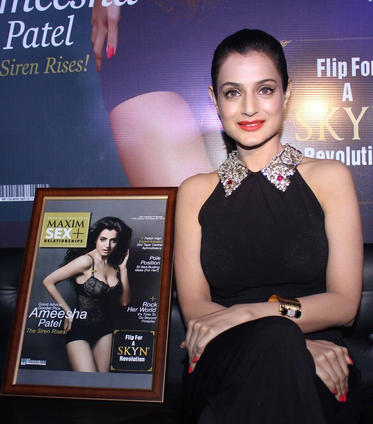 Ameesha Patel Stunning Beauty Still At Maxim Magazine Launch Event