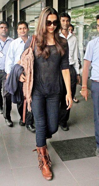 Style Icon Deepika Padukone Arrives At Mumbai Airport After Super Success Of Chennai Express