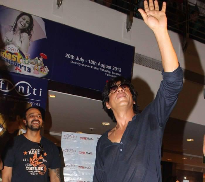 Rohit And SRK Cool At A Cinema Hall In Mumbai