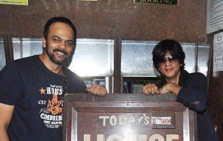 Rohit And SRK Posed At Cinemax Mumbai