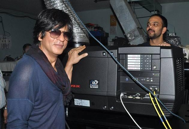 SRK And Rohit Posed At New Excelsior Cinema