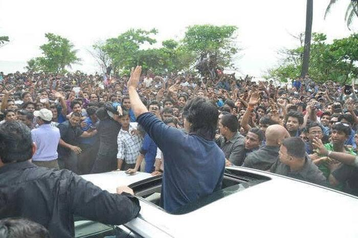 SRK Waves To Fans At A Cinema Hall In Mumbai