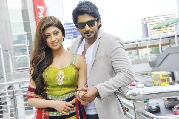 Prajwal And Pranitha Latest Stylist Hot Look Pic In  Movie Angaraka