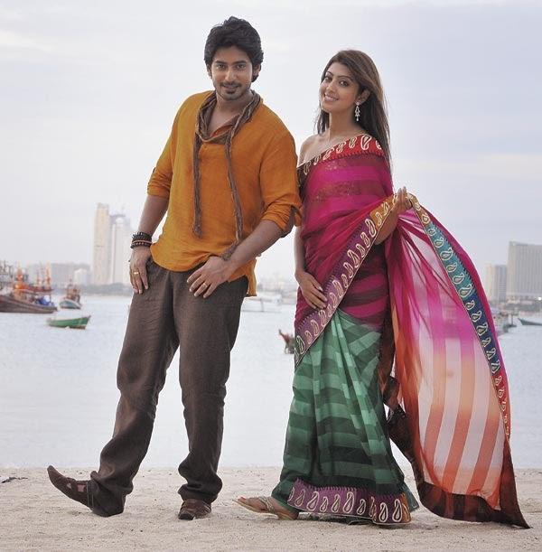 Prajwal Devaraj And Pranitha Angaraka Movie Romantic Pic