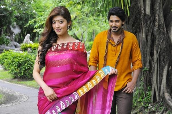 Prajwal Devaraj And Pranitha Angaraka Movie Romantic Song Still