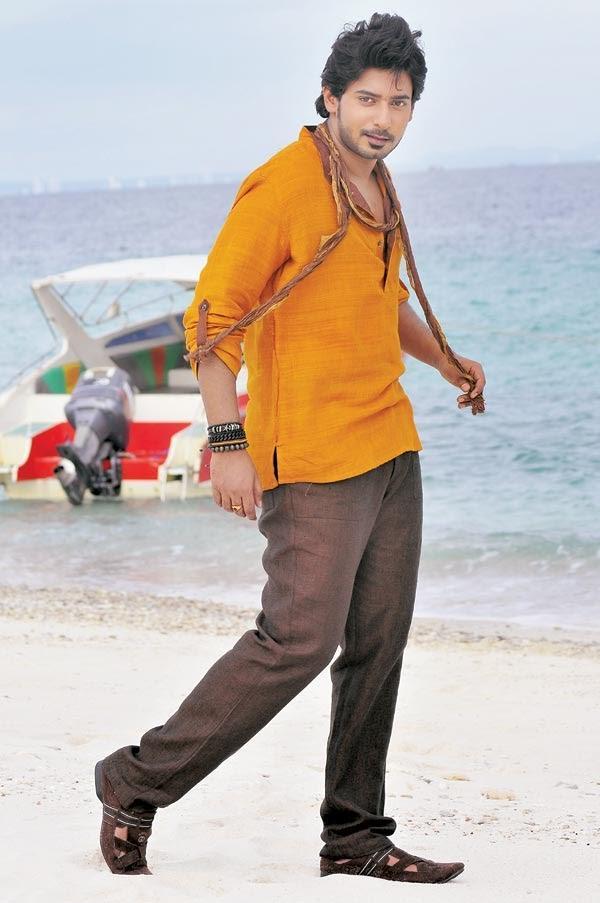 Prajwal Devaraj Stylist Look Sea Beach Photo From Angaraka Movie