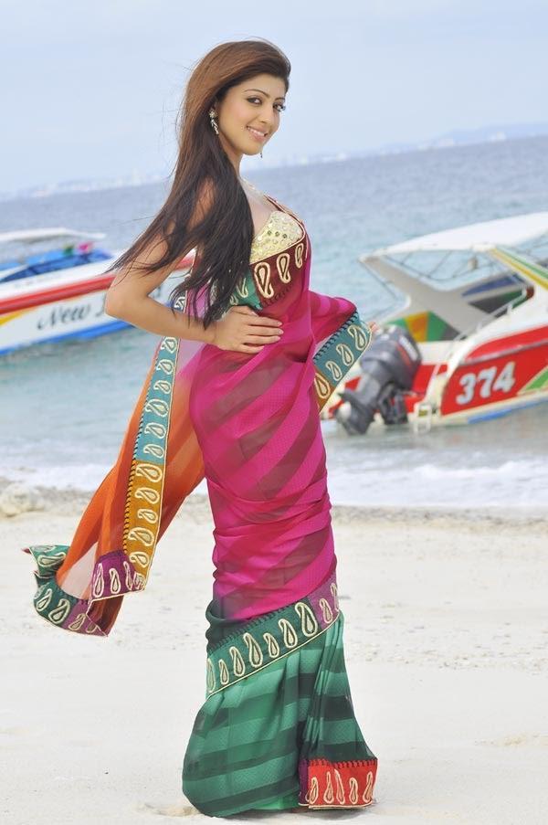 Pranitha Sexy Pose In Saree In The Movie Angaraka