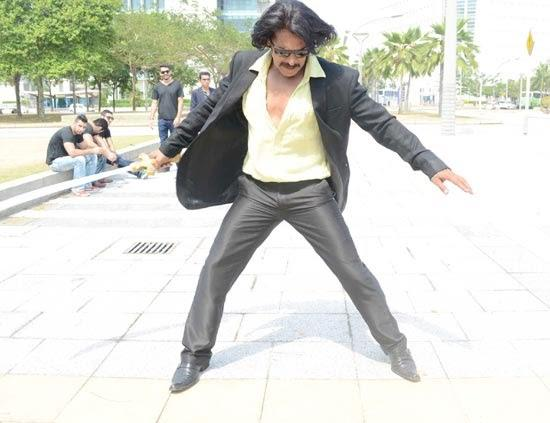 Upendra Action Still From Brahma - The Leader Movie