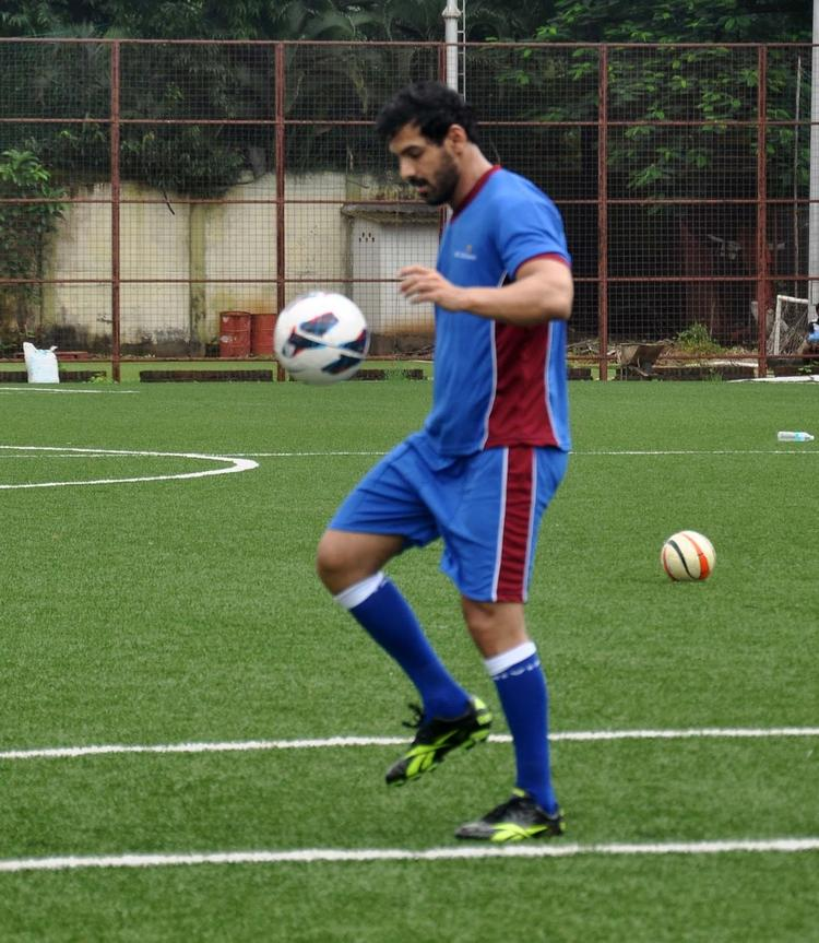 Bollywood Actor John Abraham During The IMG-Reliance Football Camp In Mumbai On August 13