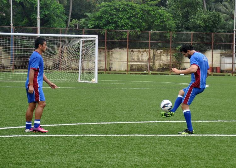 John And Baichung Playing During The IMG-Reliance League 2013