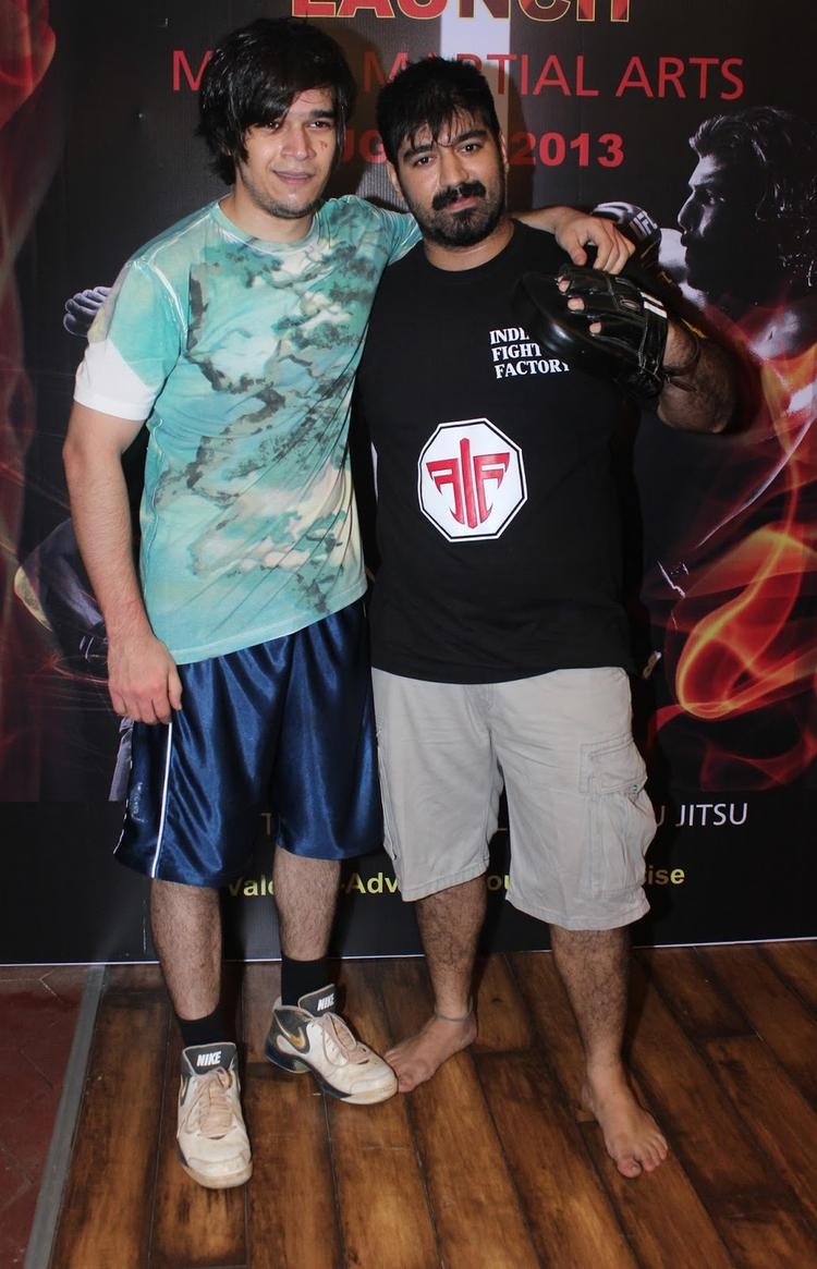 Vivaan Shah Posed At Gold Gym's Mixed Martial Arts Launch Event