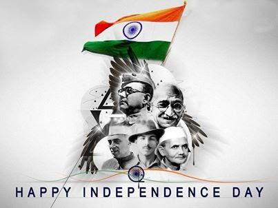 Happy Independence Day Wallpaper With Political Leaders