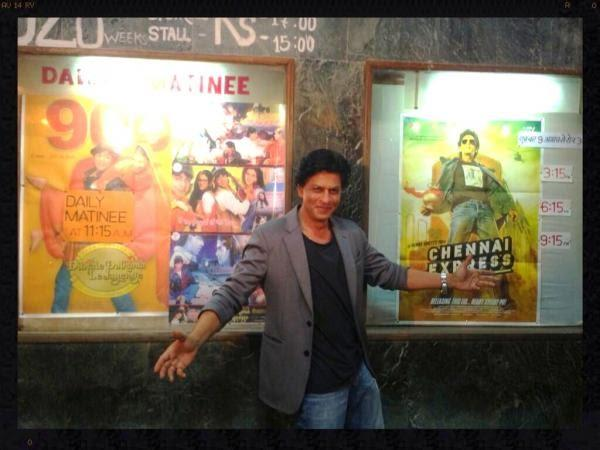 SRK Cool Posed At Maratha Mandir Cinema Halls