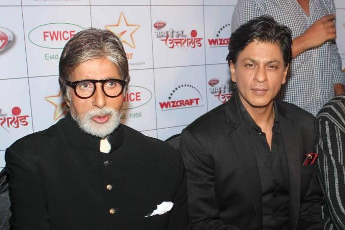 Amitabh And Shahrukh During The Uttarakhand Event