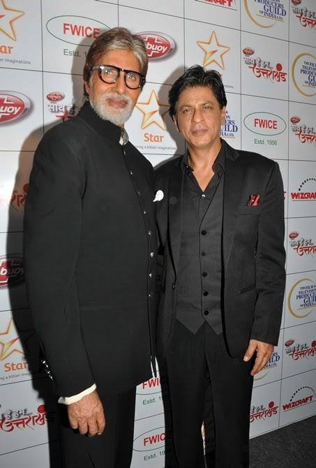 Amitabh And Shahrukh At Star India Hosts Fund-Raiser Saath Hain Hum Uttarakhand Event