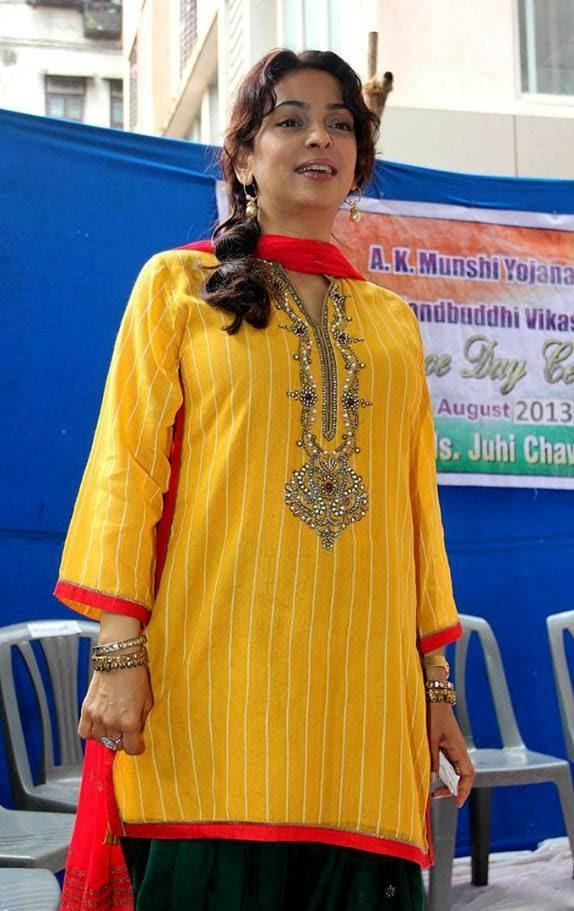 Juhi Chawla Celebrated Independence Day With Special Children