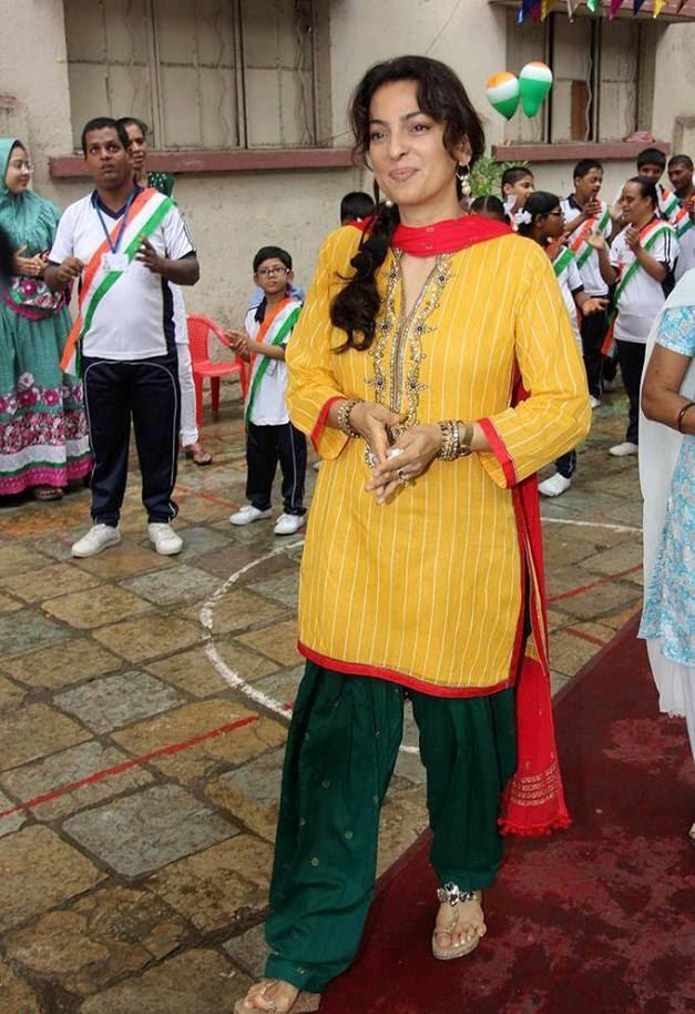 Juhi Chawla Hoisted The National Flag At A School For Mentally Challenged Child
