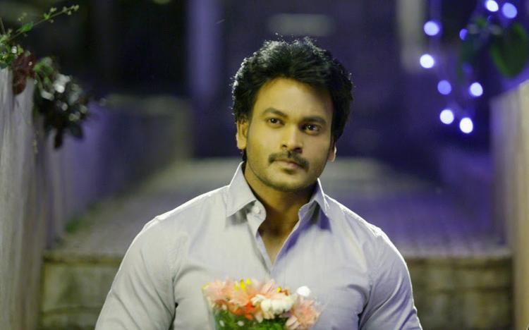 Alias Janaki Movie Rahul Venkat With Flowers Nice Still