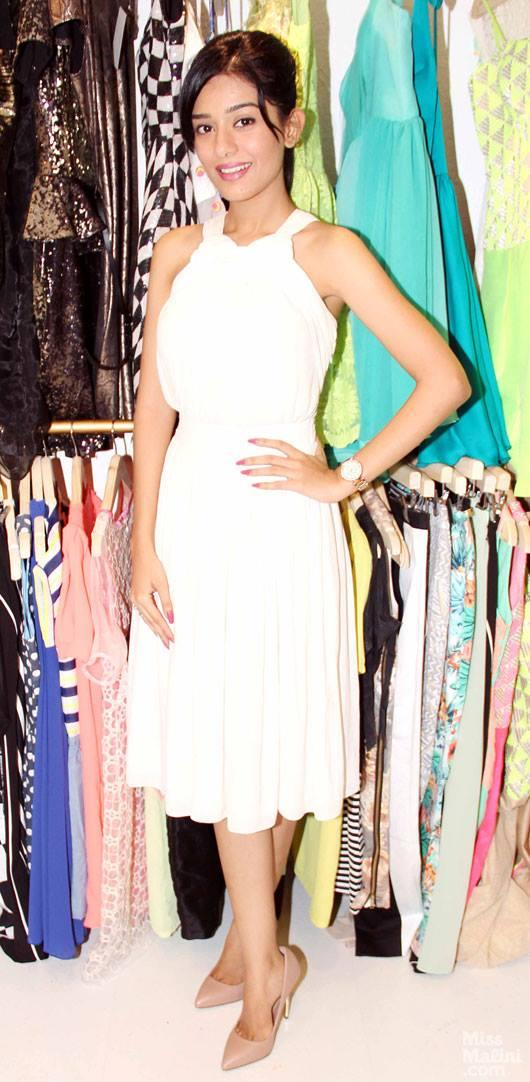 Amrita Rao Looks Stunning Hot In White Dress During The Launch Of L.A.S.H.A Store