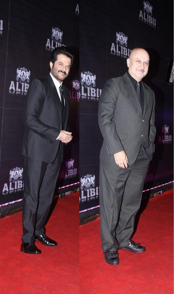 Anil Kapoor And Anupam Kher Clicked In Red Carpet At Sridevi's 50th Birthday Bash