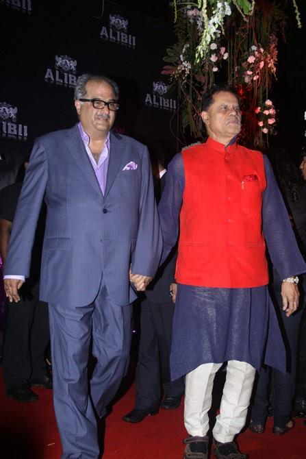 Boney Kapoor In Red Carpet At His Wife Sridevi's 50th Birthday Bash