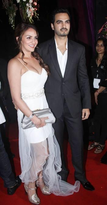 Esha With Hubby Bharat Present In Red Carpet At Sridevi's 50th Birthday Bash