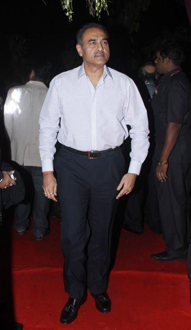 A Guest Posed In Red Carpet At Sridevi's 50th Birthday Party