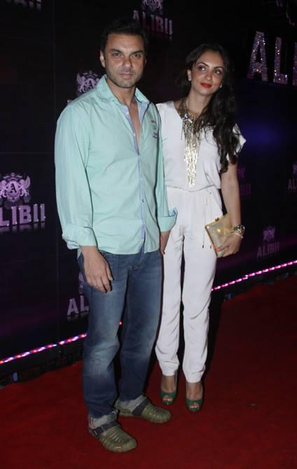 Sohail Khan With Wife Seema Glamour Look In Red Carpet At Sridevi's 50th Birthday Party