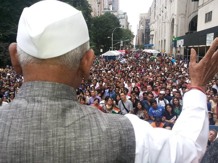 Indian Social Activist Anna Hazare Speech At India Day Parade In New York
