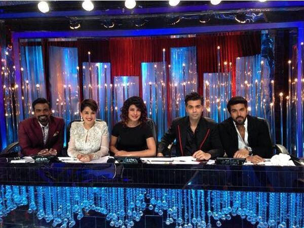 Remo,Madhuri,Priyanka,Karan And Ram Charan On The Sets Of Jhalak Dikhhla Jaa 6 During The Promotion Of Zanjeer