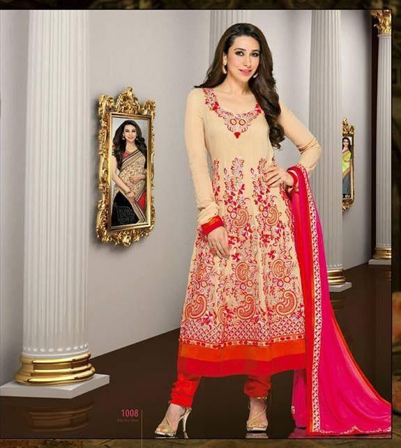 Karisma Kapoor Looking Gorgeous In This Salwar Kameez  For New AD Shoot