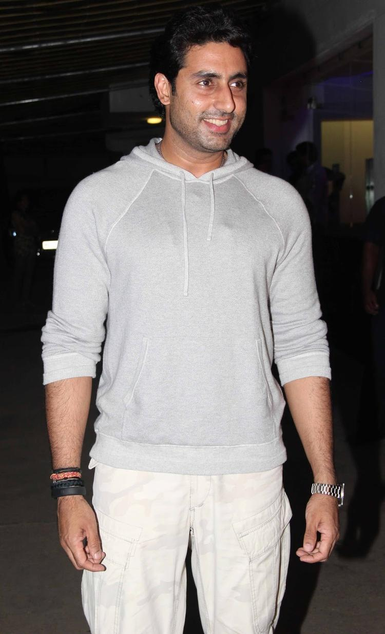 Abhishek Bachchan Spotted At Madras Cafe Special Screening